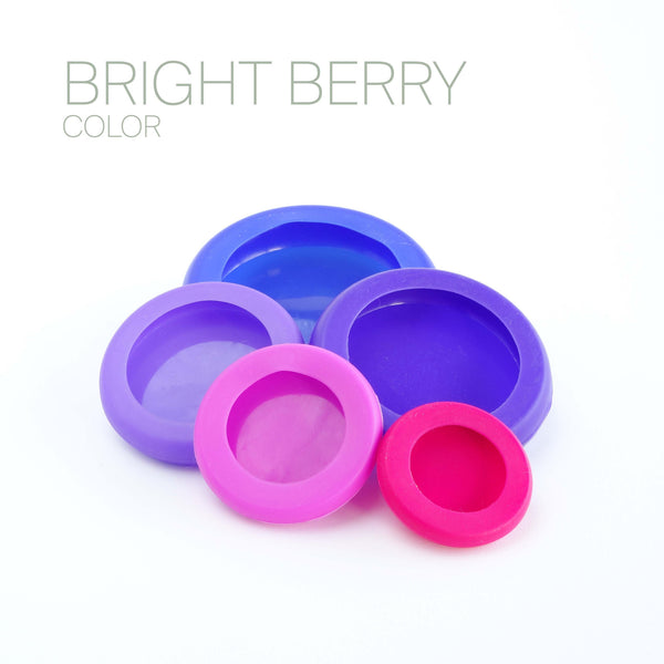 Set of Five Food Huggers - Bright Berry