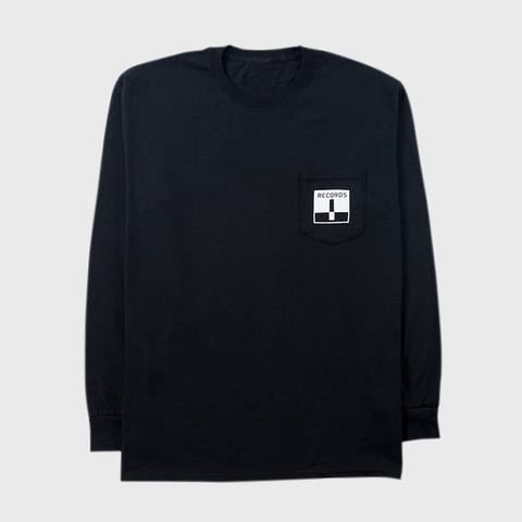 Terrible Records Pocket Black Longsleeve