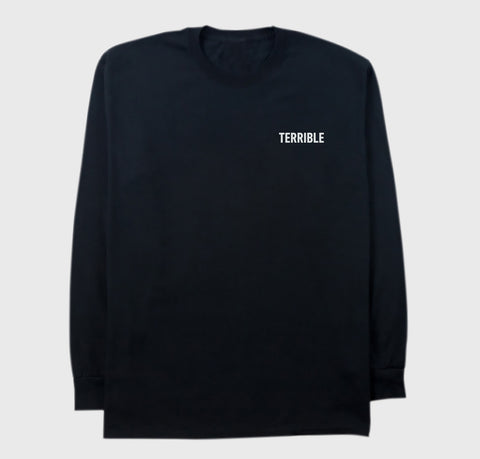 Terrible Records Black Logo Longsleeve
