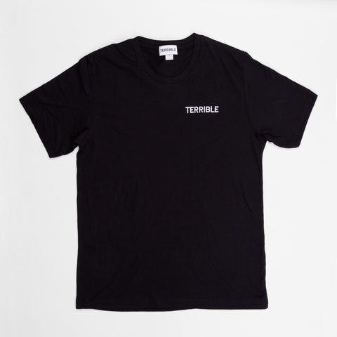 Terrible Records Black Logo Tee