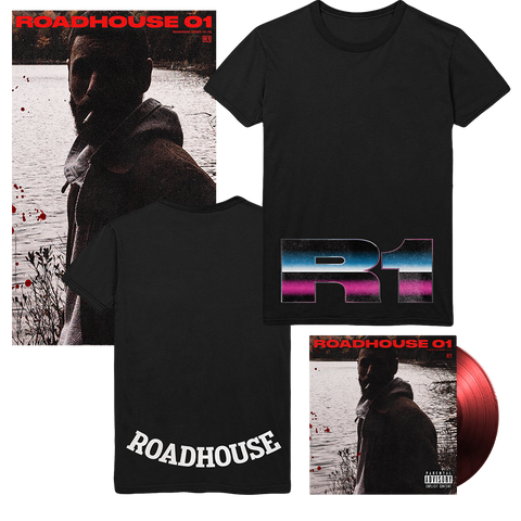 Roadhouse 01 Red LP + T-Shirt + Poster