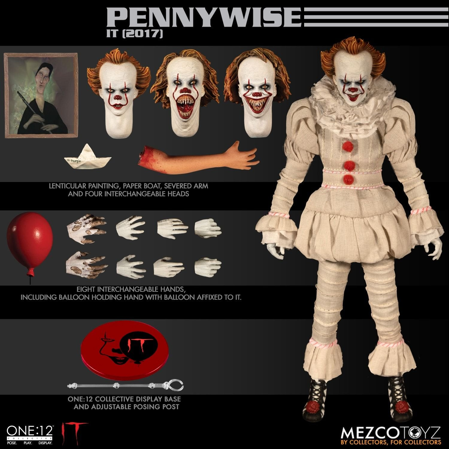 Mezco One : 12 Collective Pennywise Action Figure (Pre-Order) - toysintheattic.co.uk