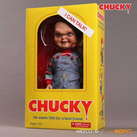 Child's Play Good Guys Chucky 15-Inch Talking Doll (Evil Face)