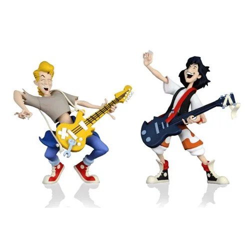 Bill & Ted's Excellent Adventure Toony Classics 6-Inch Action Figure 2-Pack (Pre-Order) - toysintheattic.co.uk