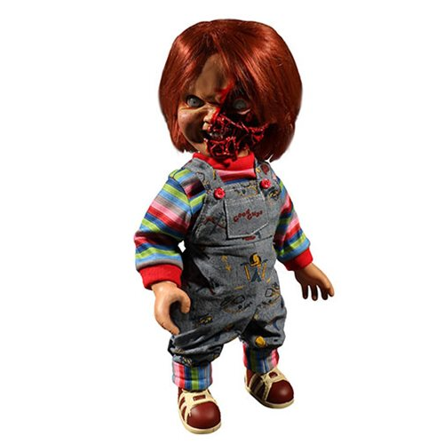 Child's Play Pizza Face Chucky Talking Mega-Scale 15-Inch Doll - toysintheattic.co.uk