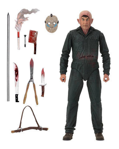 "Friday the 13th 7"" Scale Action Figure Ultimate Part 5 Roy Burns"