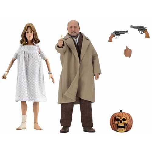 Halloween 2 Doctor Loomis and Laurie Strode 8-Inch Scale Clothed Action Figures (Pre-Order) - toysintheattic.co.uk