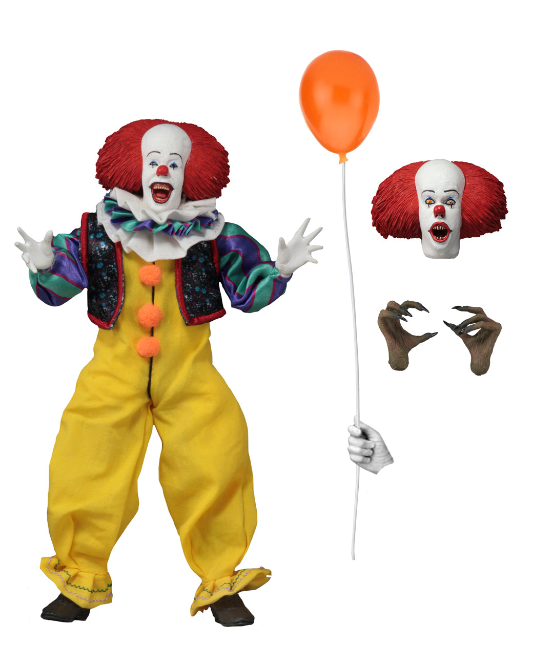 "IT Pennywise 1990 8"" Clothed Action Figure - toysintheattic.co.uk"