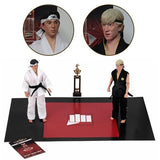 Karate Kid 1984 All-Valley Karate Championships Tournament Cloth 8-Inch Action Figure 2-Pack - toysintheattic.co.uk