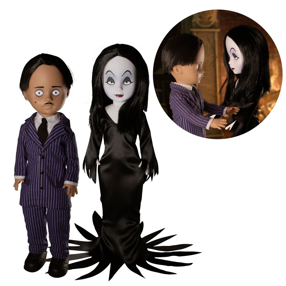 Living Dead Doll The Addams Family Gomez and Morticia Dolls 2-Pack (Pre-Order)