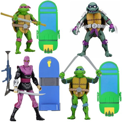 TMNT Turtles In Time 7-Inch Scale Action Figure Set of 4 (Pre-Order) - toysintheattic.co.uk
