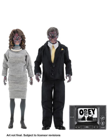 They Live 8″ Clothed Neca Action Figures Alien 2 Pack