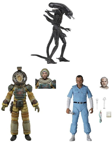 Alien 7' scale Neca Action Figures - 40th Anniversary Set of 3 Series 3 (Pre-Order)