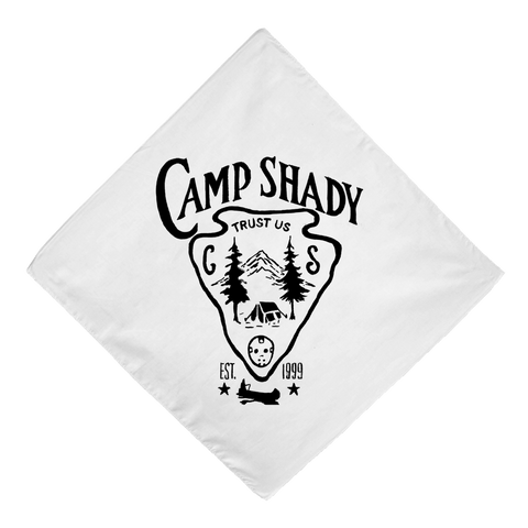 Limited Release: Camp Shady Bandana in White