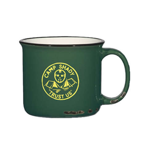 Limited Release: Camp Shady Distressed Mug in Green