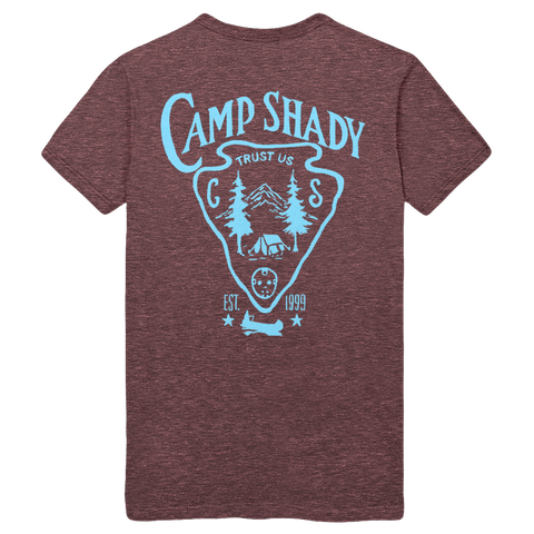 Limited Release: Camp Shady T-shirt in Maroon