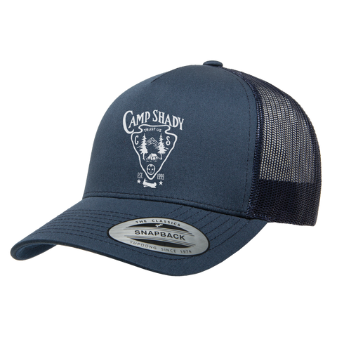 Limited Release: Camp Shady Trucker Hat in Navy