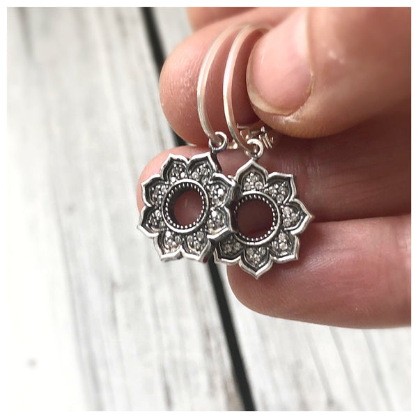 Diamond Mandala Earrings