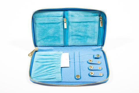Chrisil Jewelry Organizer Travel-Blue
