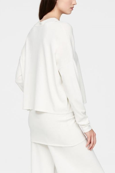 SARAH PACINI BOAT NECK LONG SLEEVE SHORT POCKET SWEATER 2116100503