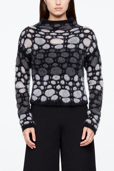 SARAH PACINI MOHAIR-WOOL FULL SLEEVE MOCK NECK SWEATER 20211120