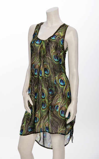 BEATE HAYMANN SLEEVELESS TUNIC PEACOCK  901-18 - Lizardfashion
