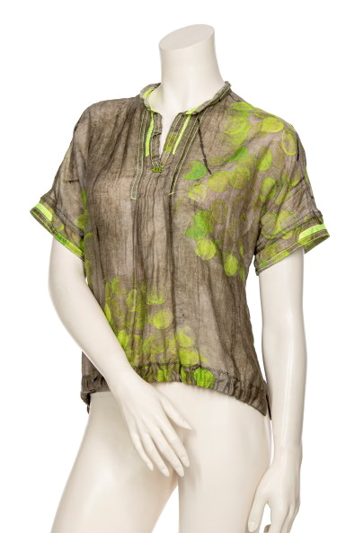 BEATE HEYMANN SHORT SLEEVE SILK TAFFETA 948-6 - Lizardfashion