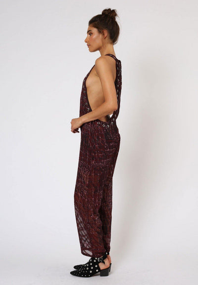 RELIGION INGLORIOUS CONTORT PRINT JUMPSUIT HISP74 - Lizardfashion