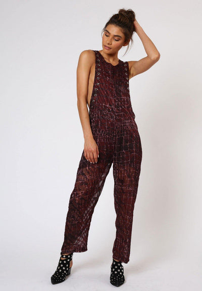 RELIGION INGLORIOUS CONTORT PRINT JUMPSUIT HISP74