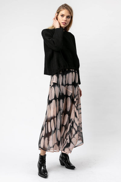 RELIGION MAXI A LINE HALF LINED REPTILE PRINT SKIRT 70HJYK48112