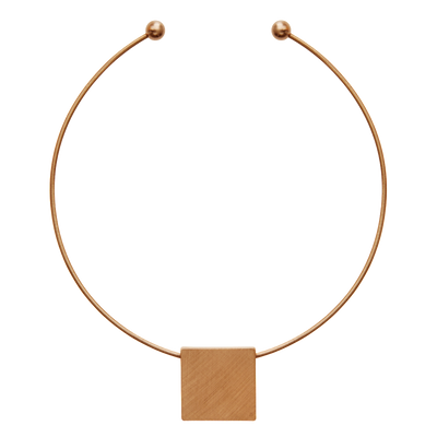 DANSK SMYKKEKUNST SQUARE NECKLACE ROSE GOLD PLATING 9H9015 - Lizardfashion