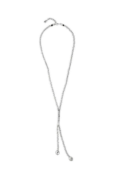 UNO DE 50 LONG BALL TUBE DETAIL BELLENDS NECKLACE COL1294