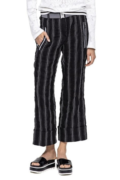 BEATE HEYMANN STRIPED LINEN CULOTTE TROUSERS 241-4