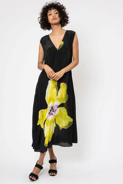 SYMBOL Dress - Black & Lime 501SBD07