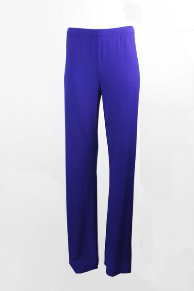 1 ONE COLLECTION ROYAL BLUE WIDE FULL LENGTH TROUSERS Z0153-0103