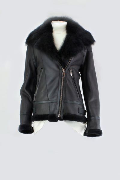 DOMGOOR SHEEP SKIN BOYFRIEND BIKER JACKET DG2024
