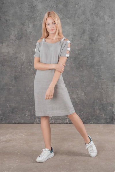 LUCA LINEN DRESS  SL81917 - Lizardfashion