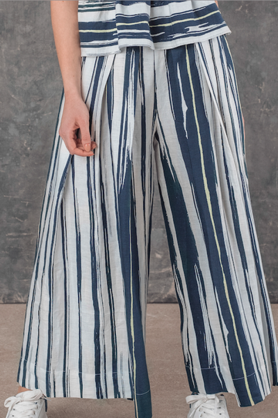 GULIO WIDE LEG TROUSERS SL21925 - Lizardfashion