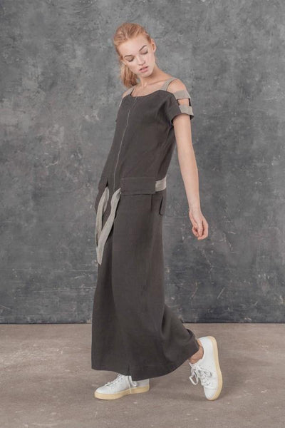 MASSIMO LINEN JUMPSUIT SL21921 - Lizardfashion