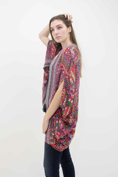 INOA ROUNDED CRYSTAL DETAIL AZTEC SHRUG BANVARA