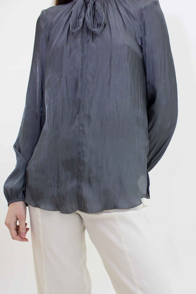 BEATE HEYMANN LONG SLEEVE TIE NECK SHIRT 207-30