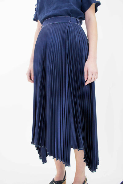 BEATRICE B PLEATED SATIN SKIRT 21FE5503GABRI-590