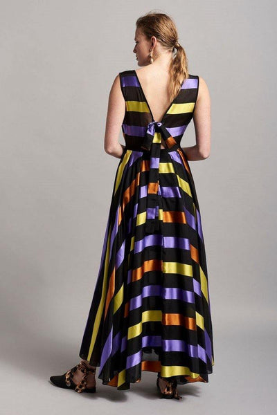 BEATRICE B MAXI DRESS WITH MULTI COLOUR STRIPES - Lizardfashion