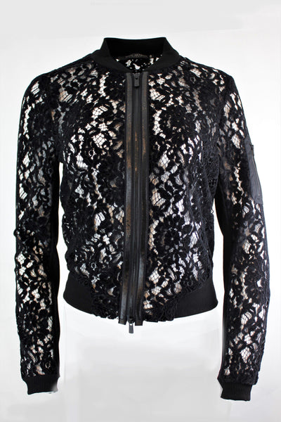 BEATE HEYMANN LACE BOMBER ARM POCKET JACKET 108-7
