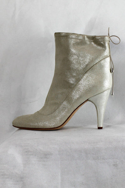 FORNARINA LUREX SUEDE HEELED ANKLE BOOTS AA6447WA96