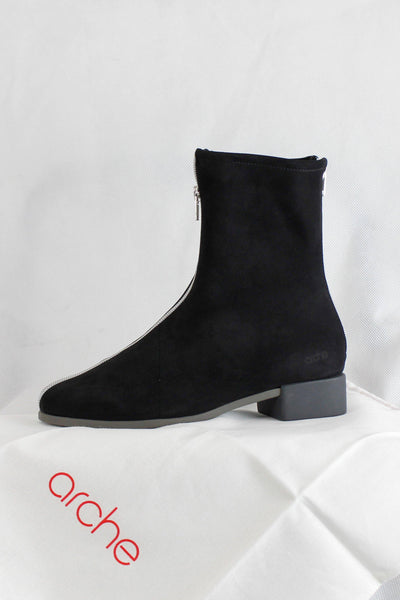 ARCHE FULL ZIP DETAIL NUBUCK ANKLE BOOTS TWIKYS - Lizardfashion