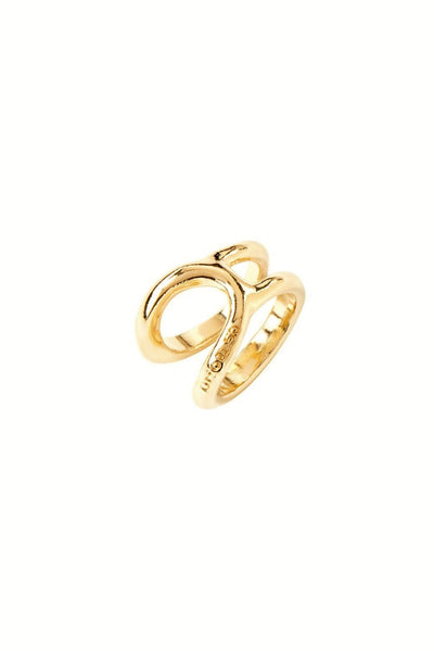 UNO DE 50 GOLD PLATED OPEN CONNECTED OVAL RING ANI0627