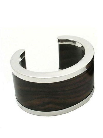 ROSEWOOD & SILVER SIGNATURE CUFF MB102 - Lizardfashion