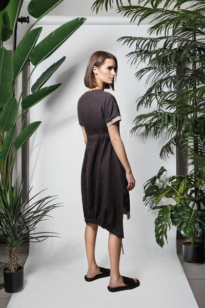 LUEL BELTED LINEN DRESS SL81817 - Lizardfashion