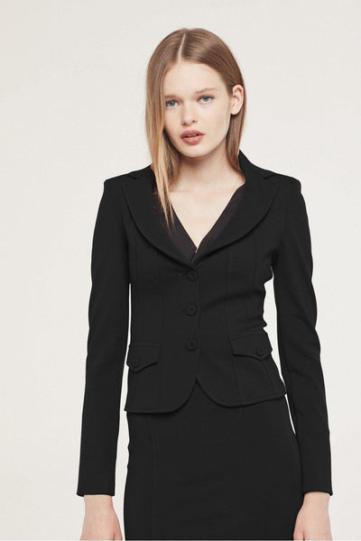 ISABEL DE PEDRO SHORT JACKET WITH POCKETS 1300AM590 - Lizardfashion